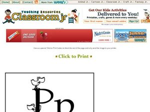 Letter P Practice Worksheet