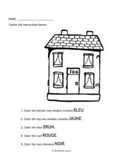 French Color Words Worksheet