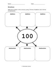 Making Numbers 100 - 109 Worksheet