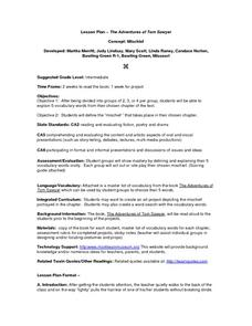 Lesson Plan-The Adventures of Tom Sawyer Lesson Plan