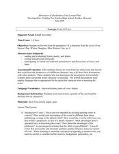 Adventures of Huckleberry Finn Lesson Plan Lesson Plan