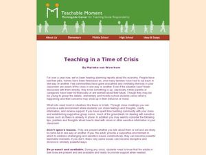 Teaching in a Time of Crisis Lesson Plan