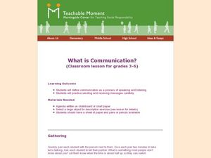 What is Communication Lesson Plan
