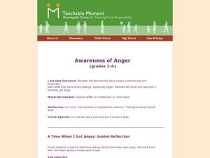 Awareness of Anger Lesson Plan