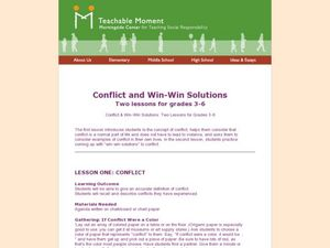 Conflicts and Win-Win Solutions Lesson Plan