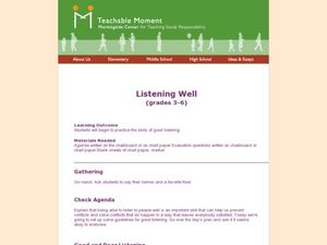 Listening Well Lesson Plan