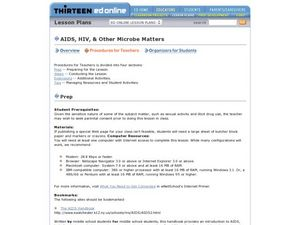 AIDS, HIV and other Microbe Matters Lesson Plan