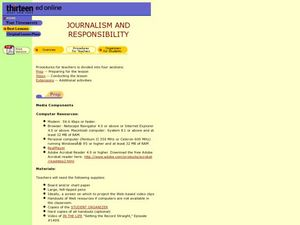 Journalism and Responsibility Lesson Plan
