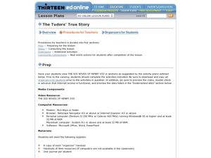 The Tudors' True Story Lesson Plan