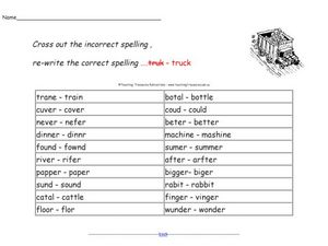 Spelling Check Worksheet