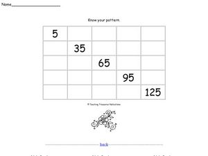 Know Your Pattern 8 Worksheet