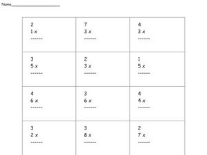 Multiplication of Numbers 1-9 Worksheet