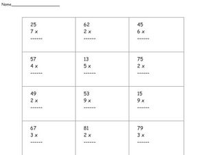 Multiplication 15 Worksheet