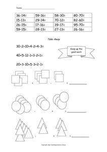 Subtraction and Addition Practice Worksheet