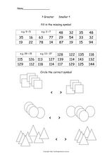 >Greater or Smaller< Worksheet