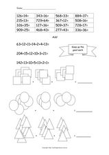 Addition of Multiple Numbers Worksheet