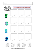 The Number Twenty Worksheet