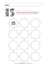 The Number Fifteen Worksheet