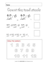 Count the Toad Stools Worksheet