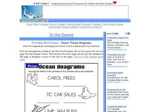 In the Oceans Worksheet