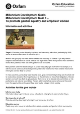 Promote Gender Equality and Empower Women Lesson Plan