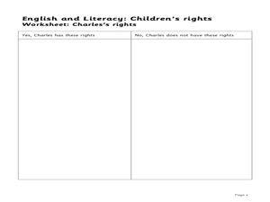 English and Literacy: Children's Rights - Lesson Plan 4: Exploring Rights Lesson Plan