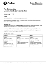 The Clothes Line: Before and After Lesson Plan