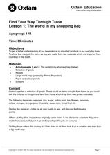 The World in My Shopping Bag Lesson Plan