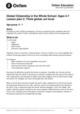 Think Global, Act Local Lesson Plan