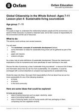 Sustainable Living Sourcebook Lesson Plan