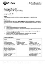 Making a Meal of It- Captioning Lesson Plan