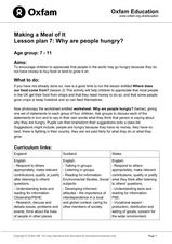 Making a Meal of It: Why Are People Hungry? Lesson Plan