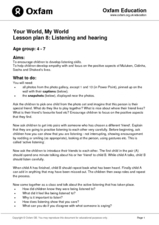 Listening and Hearing Lesson Plan