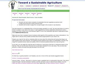 Real People, Real Farms - Case Studies Lesson Plan