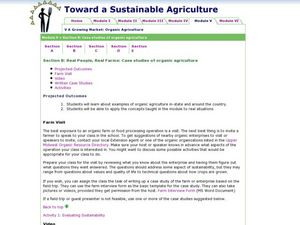 Real People, Real Farms:  Case studies                                 of organic agriculture Lesson Plan