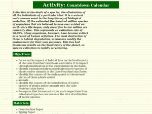 Countdown Calendar Lesson Plan