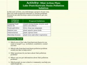 Lake Pontchartrain Basin Pollution Solution Lesson Plan