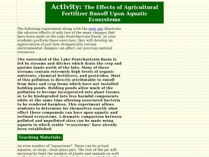 The Effects of Agricultural Fertilizer Runoff Upon Aquatic Ecosystems Lesson Plan