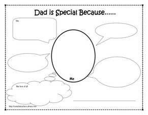 Dad is special because... Worksheet