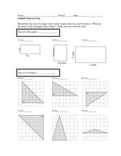 Guided Notes on Area Worksheet