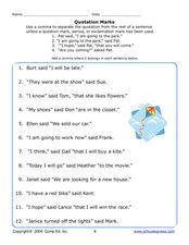 Quotation Marks 4 Worksheet