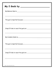 My 2 Goals Worksheet
