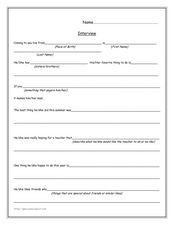 Conduct and Interview: Template Worksheet