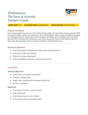 Pendemonium - The Posse in Australia Lesson Plan
