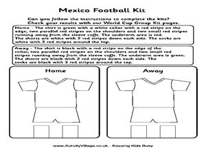 Mexico Football Kit Worksheet