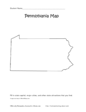 Pennsylvania Map Worksheet