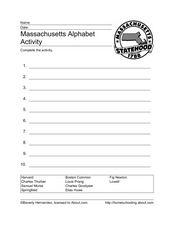 Massachusetts Alphabetizing Worksheet Worksheet