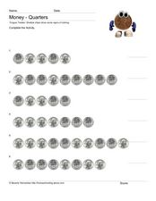 Money: Count Quarters Worksheet