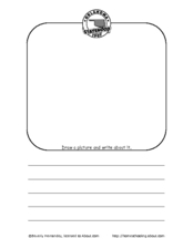 Flag Day Draw and Write Worksheet