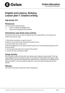 Bullying: Creative Writing Lesson Plan